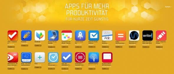 Produktivitäts-Apps teils drastisch reduziert