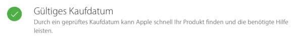iPhone Garantiestatus überprüfen