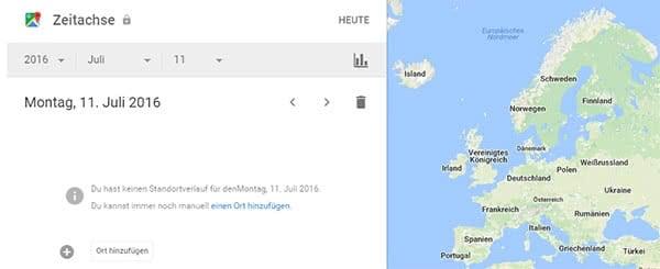 Google Standortverlauf deaktivieren