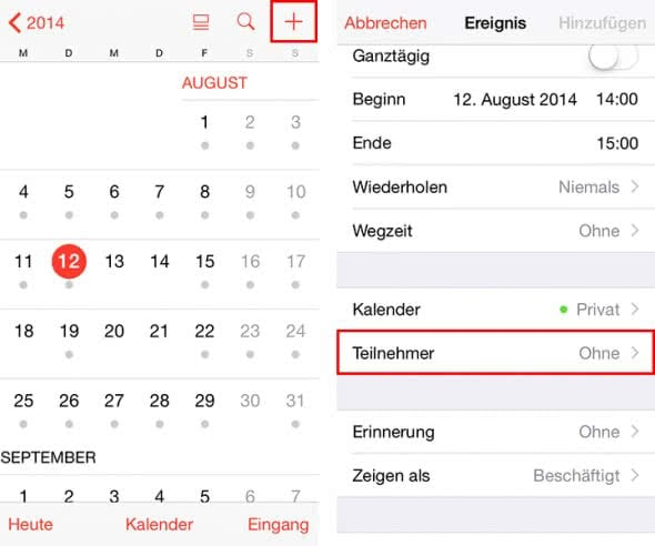 Neuer Kalender Iphone