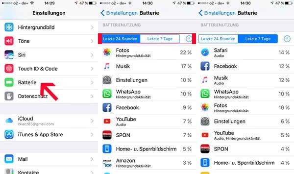 Apps mit hohem Akkuverbrauch finden