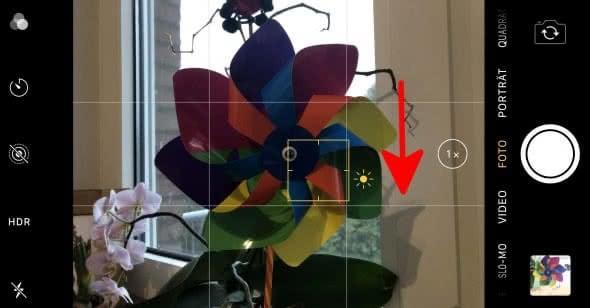 iPhone Kamera Belichtung einstellen