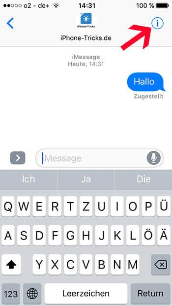 Auf dem iPhone Standort teilen mit iMessage