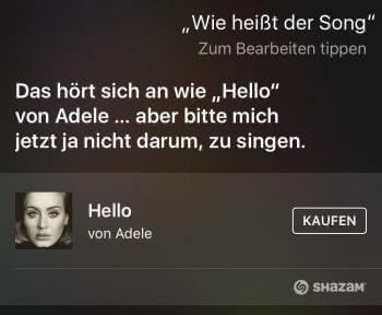 Siri nach aktuellem Song fragen