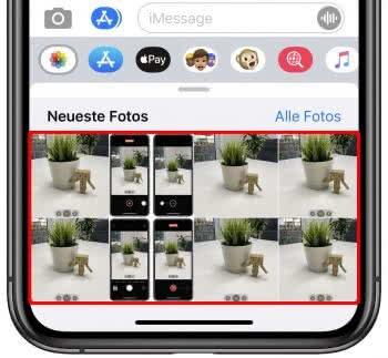 Video-Vorschau in iMessage