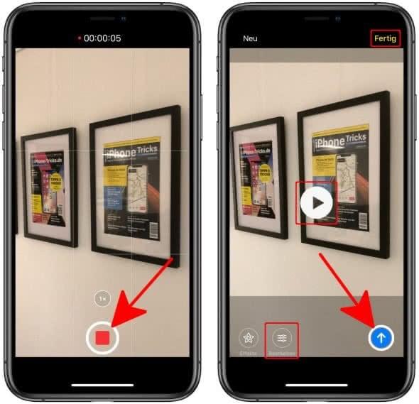 Videonachricht erstellen in iMessage