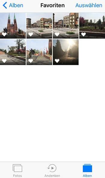 iPhone Fotos Favoriten ansehen