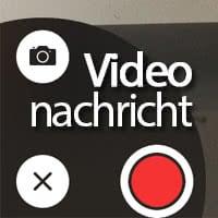 iPhone Videonachrichten senden in iMessage