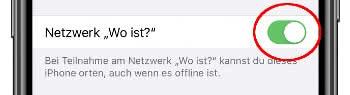 """""""Netzwerk Wo ist?"""" aktivieren"""