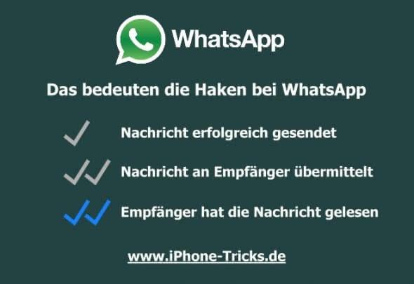 Das bedeuten die WhatsApp Haken