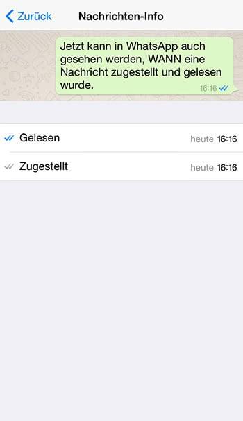 Uhr neben einer WhatsApp Nachricht