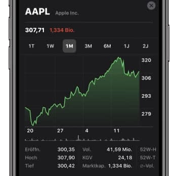Apple Aktien App