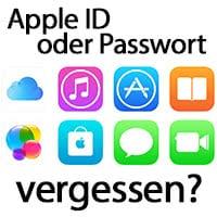 Apple ID oder Passwort vergessen