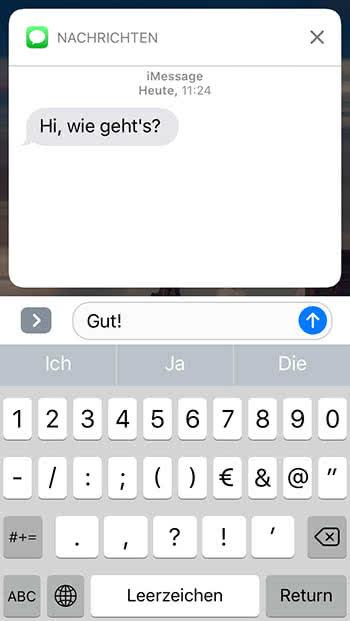 iPhone Nachrichten schneller am Lockscreen beantworten