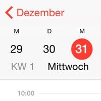 iPhone Kalender mit KW (Kalenderwoche) anzeigen