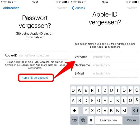 Passwort apple id  How to Reset Your Apple ID Password  2019