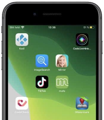 App Anordnung am iPhone-Homescreen mit iEmpty