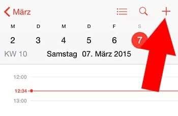 Im iPhone Kalender Termin eintragen