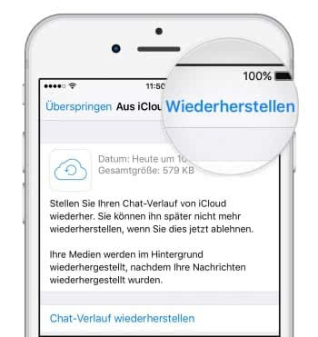 WhatsApp-Chats aus Backup wiederherstellen