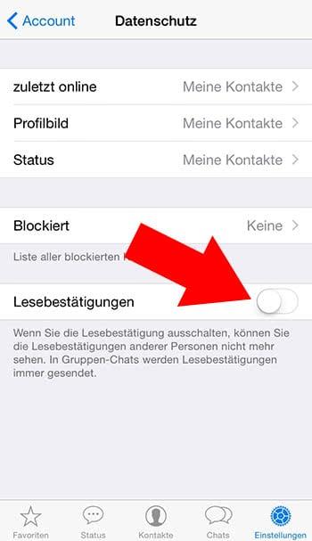 Whatsapp Lesebestätigung Trotzdem Sehen