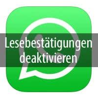 Whatsapp Lesebestätigung Deaktivieren Ausschalten