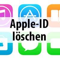 apple id löschen iphone