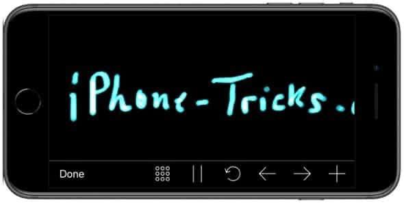 Handschrift auf dem iPhone