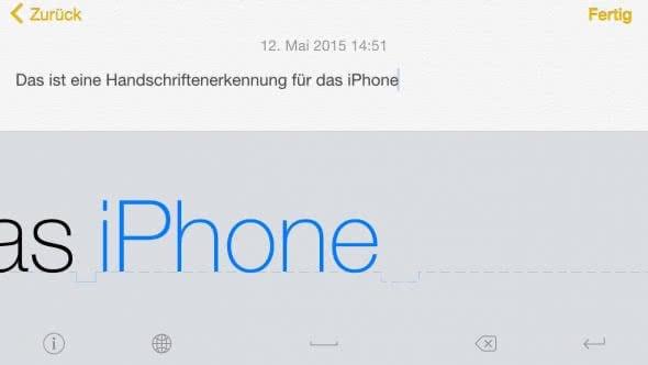 Handschrifterkennung für das iPhone