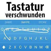 iOS Tastatur verschwunden