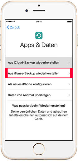 iPhone aus iTunes-Backup wiederherstellen