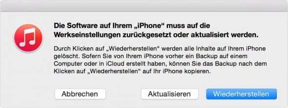 iPhone Wartungszustand verwenden