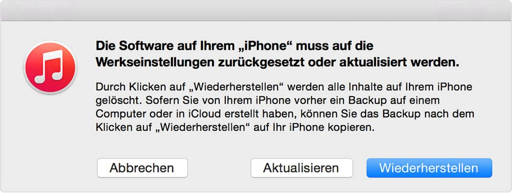 Iphone S Wartungszustand Beenden