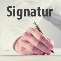 Unterschrift als Signatur