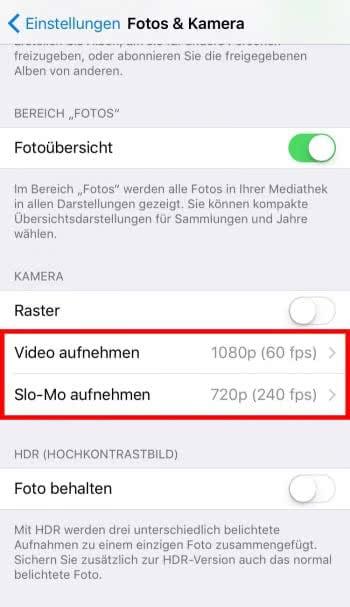5 Optionen zum Ändern der Videoqualität auf dem iPhone