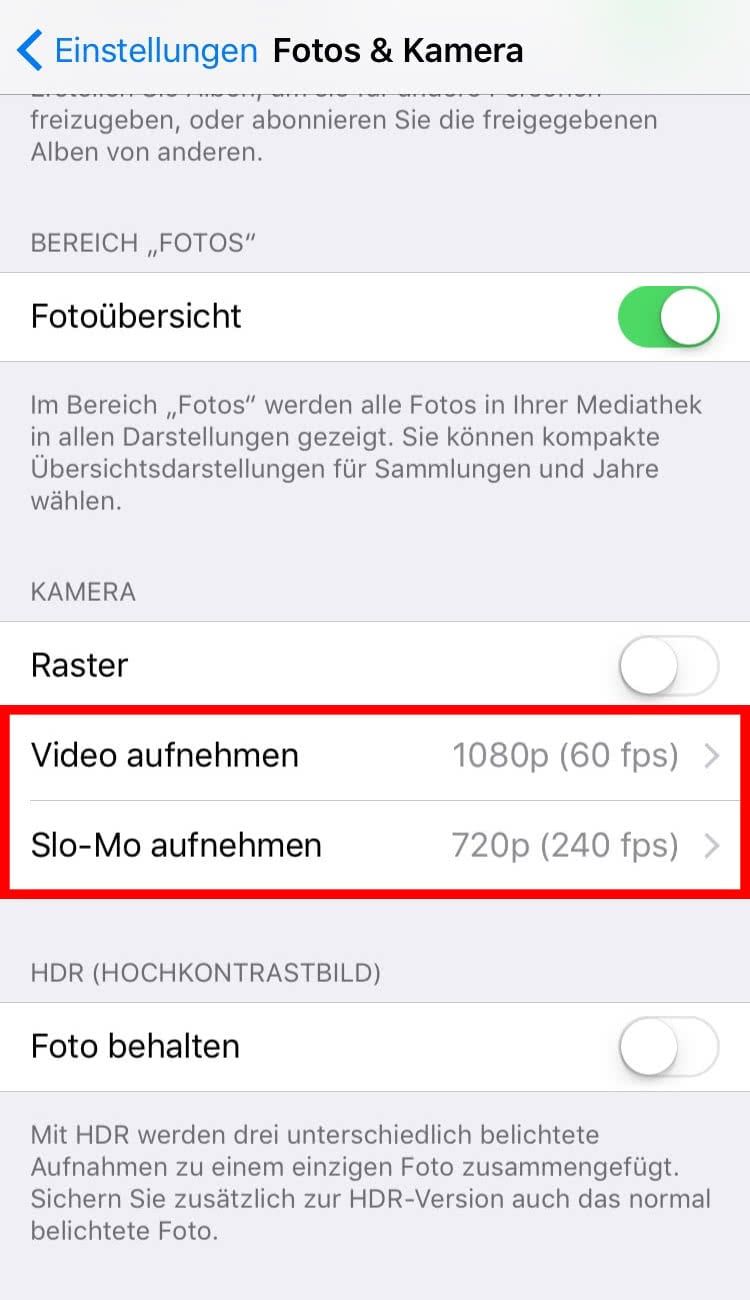 how to set iphone slow mo to 30 fps