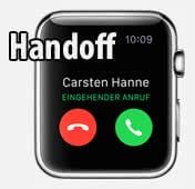 Handoff mit Apple Watch verwenden
