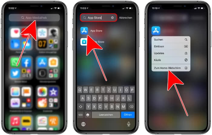 App Store suchen in der App-Mediathek