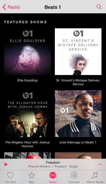 Archivierte Beats 1 Shows anhören