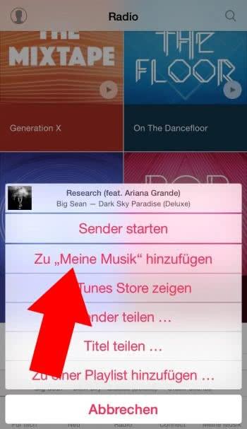 Songs aus dem Radio in eurer Mediathek sichern