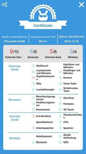 iPhone Fehlerdiagnose durchführen mit Phone Doctor Plus-App