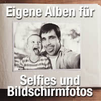 Selfies- und Bildschirmfotos-Alben verwenden