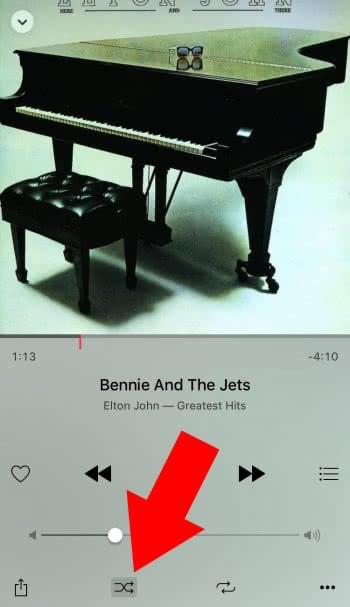 Zufällige Wiedergabe in Apple Musik abschalten