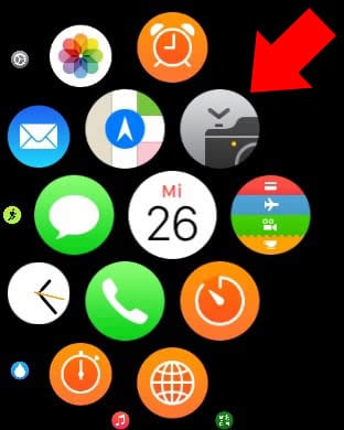 Kamera App auf Apple Watch starten