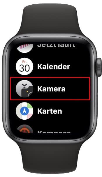 Kamera App auf Apple Watch starten