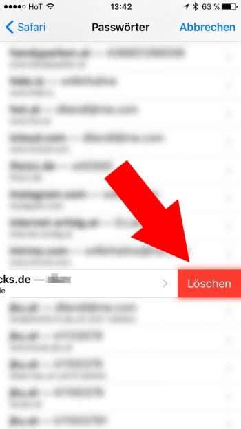 Safari - Gesicherte Passwörter anzeigen, ändern und löschen