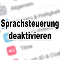 iPhone Sprachsteuerung deaktivieren