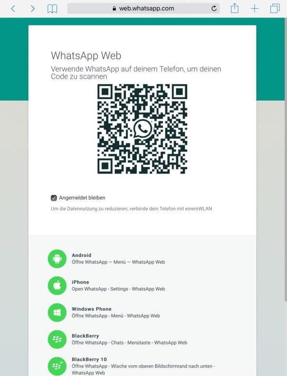 WhatsApp Web QR-Code