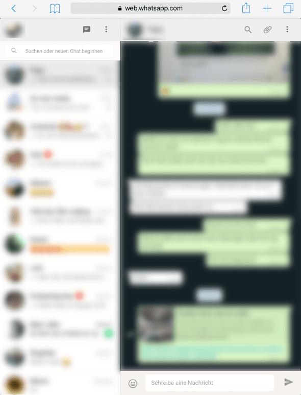 WhatsApp Web iPad 2