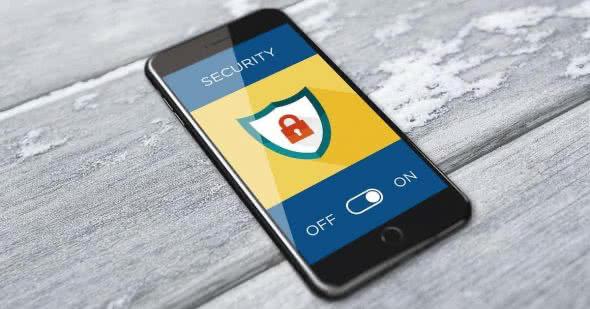 iPhone mit Antivirus-App