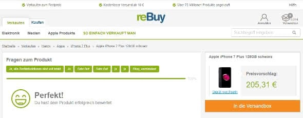 Gebrauchtes iPhone verkaufen auf reBuy